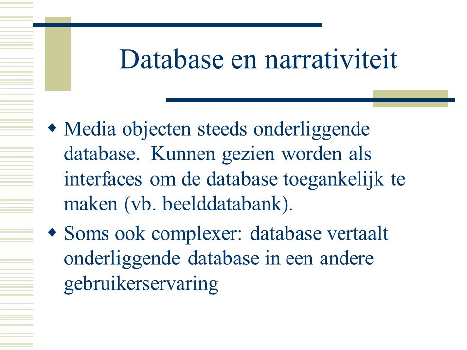 Database en narrativiteit