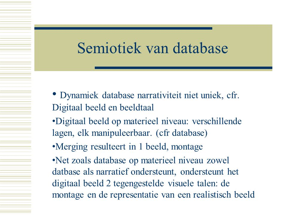Semiotiek van database