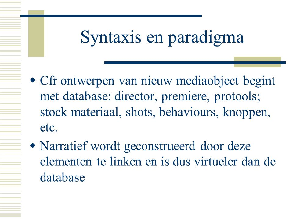 Syntaxis en paradigma