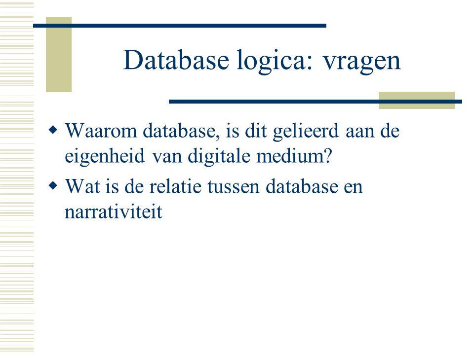 Database logica: vragen