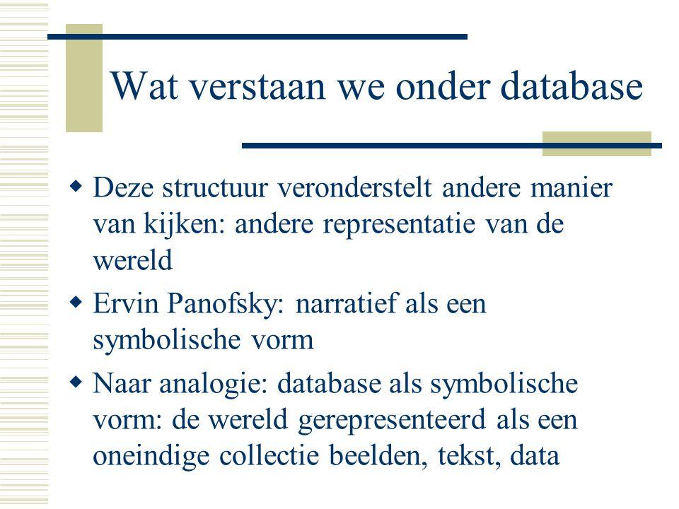Wat verstaan we onder database