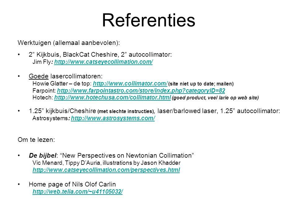 Referenties Werktuigen (allemaal aanbevolen):