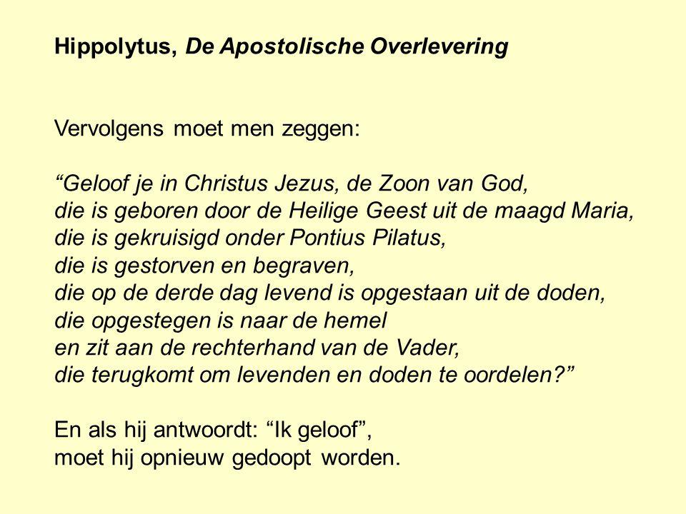 Hippolytus, De Apostolische Overlevering
