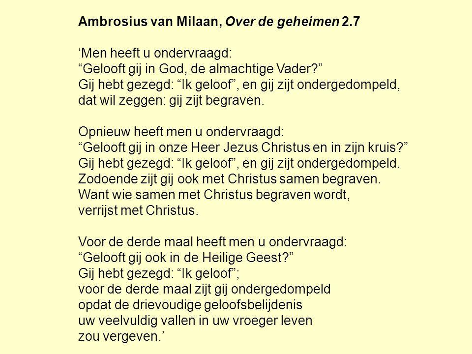 Ambrosius van Milaan, Over de geheimen 2.7 'Men heeft u ondervraagd: