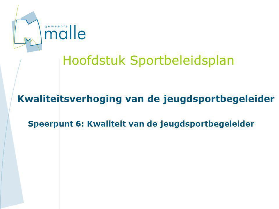 Hoofdstuk Sportbeleidsplan