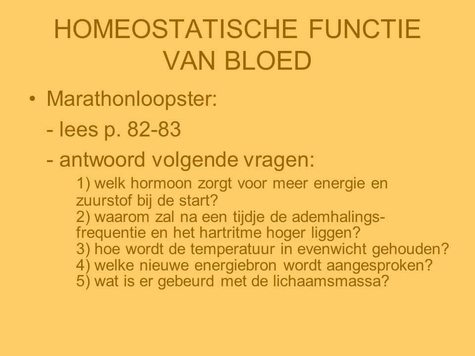 HOMEOSTATISCHE FUNCTIE VAN BLOED