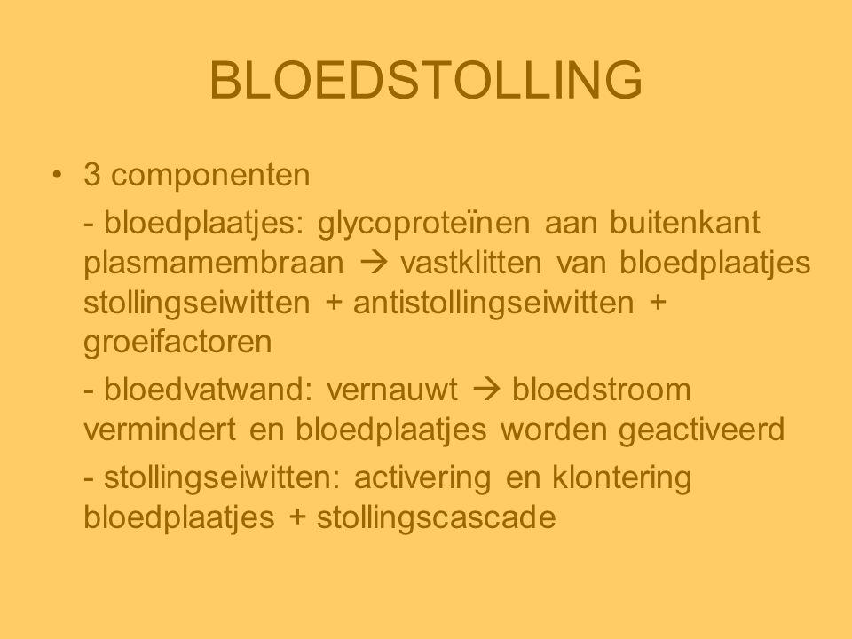 BLOEDSTOLLING 3 componenten