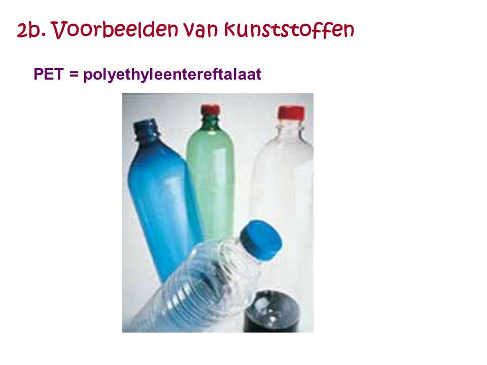 2b. Voorbeelden van kunststoffen