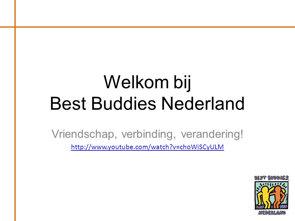 Welkom bij Best Buddies Nederland