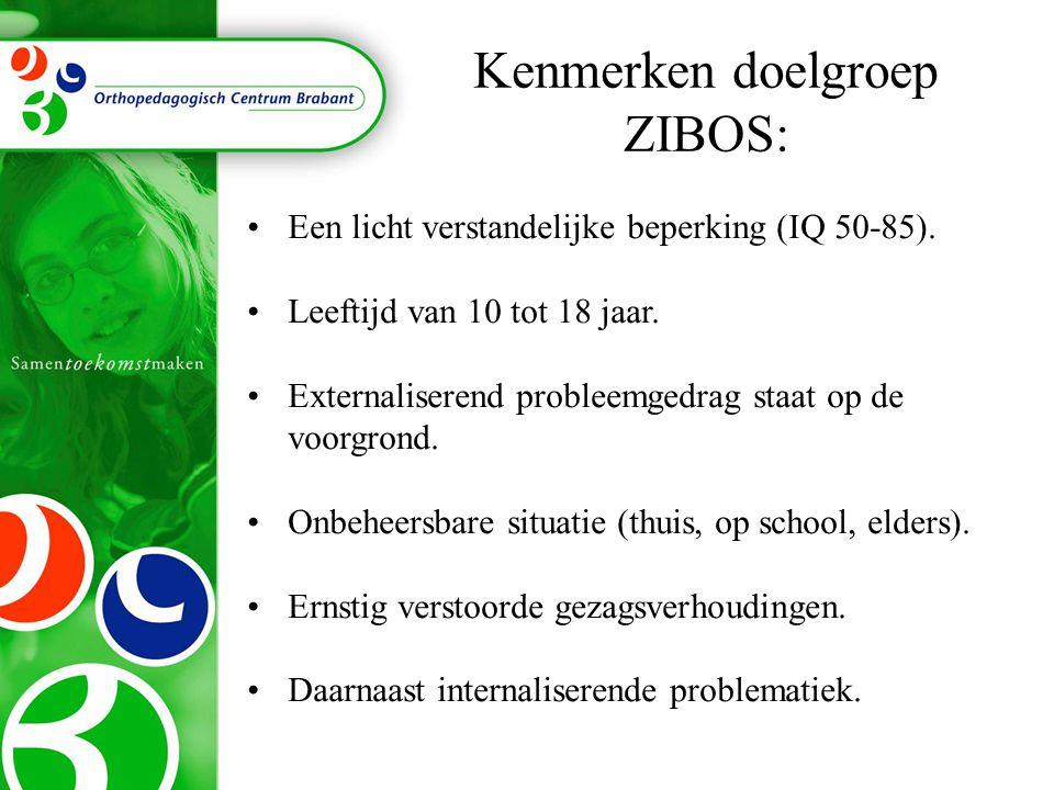 Kenmerken doelgroep ZIBOS: