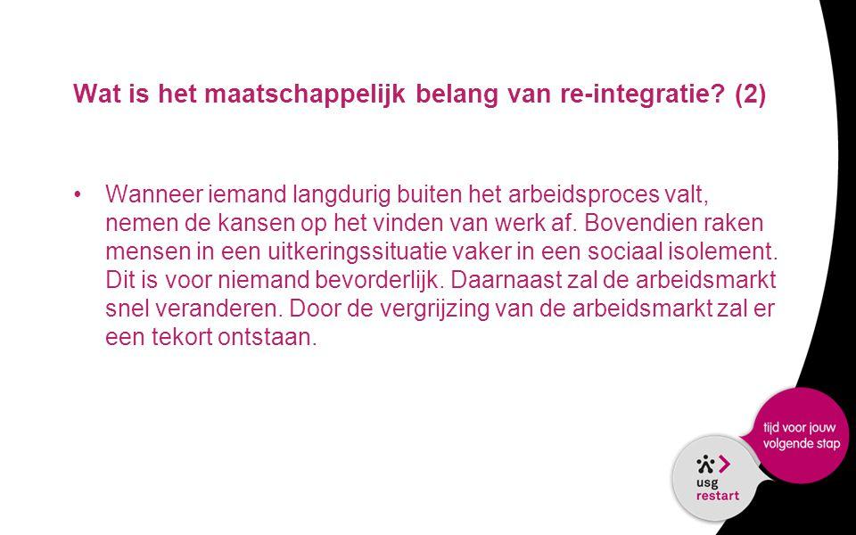 Wat is het maatschappelijk belang van re-integratie (2)