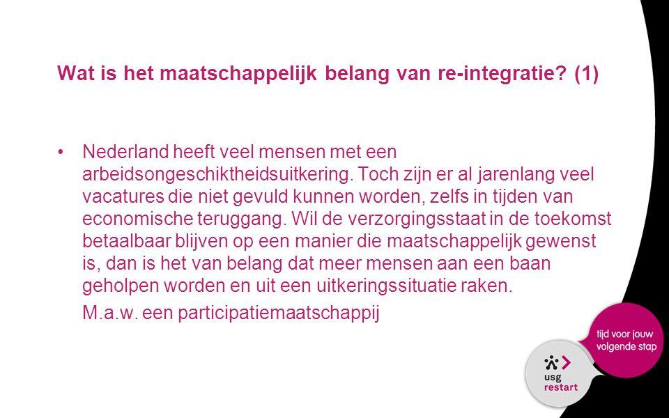 Wat is het maatschappelijk belang van re-integratie (1)