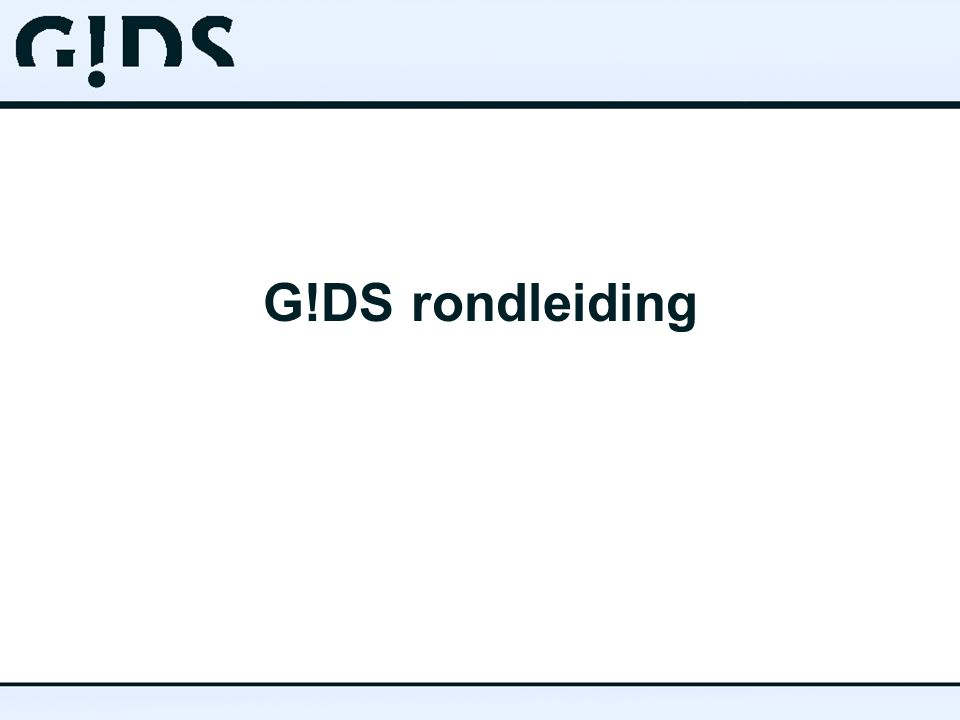 G!DS rondleiding