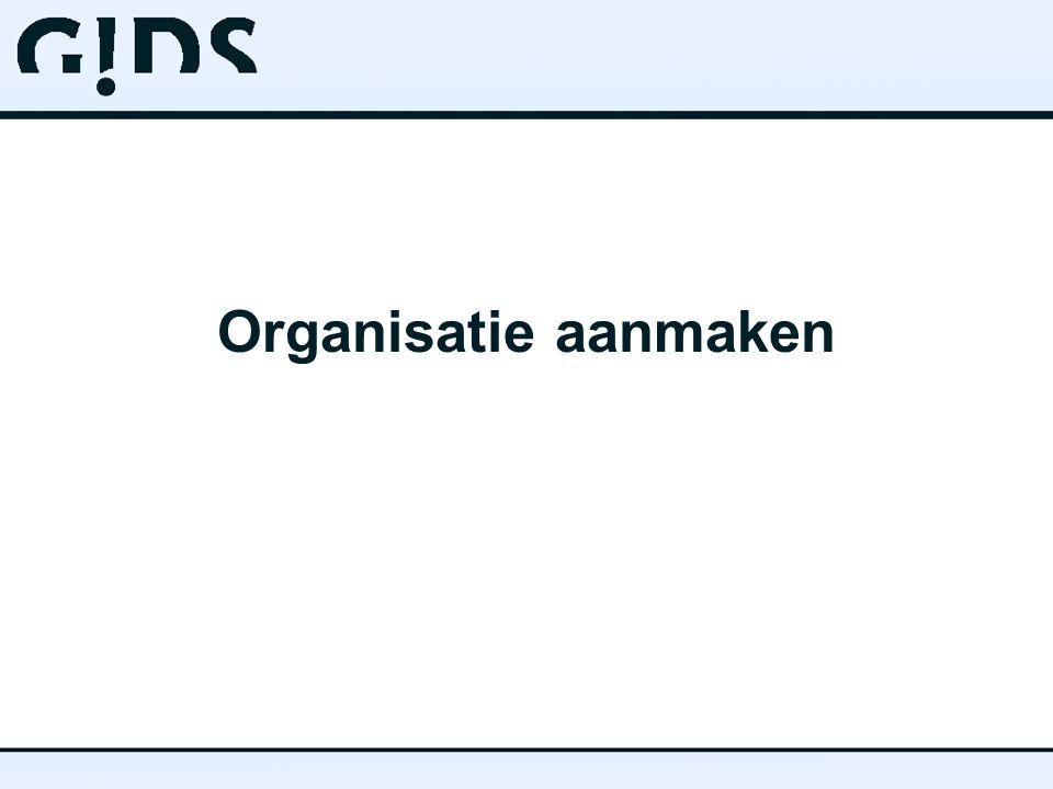 Organisatie aanmaken