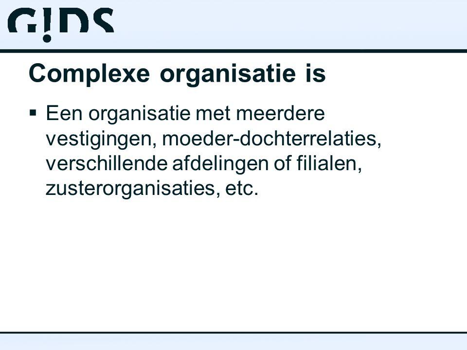 Complexe organisatie is