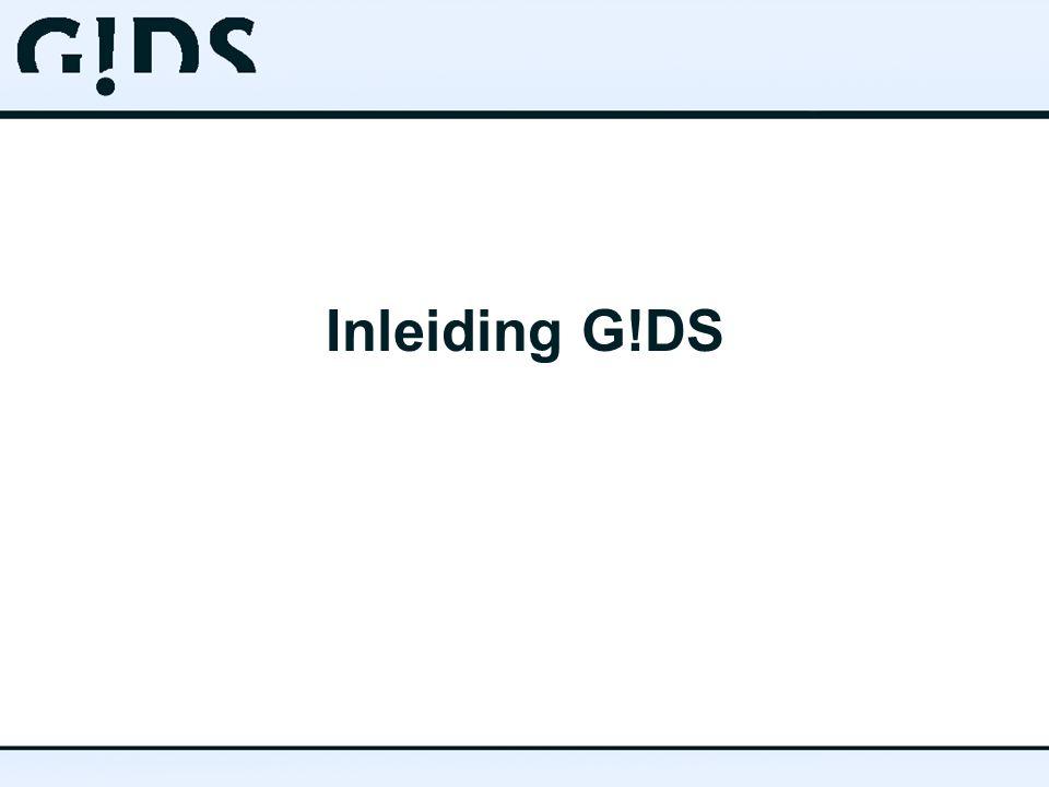 Inleiding G!DS