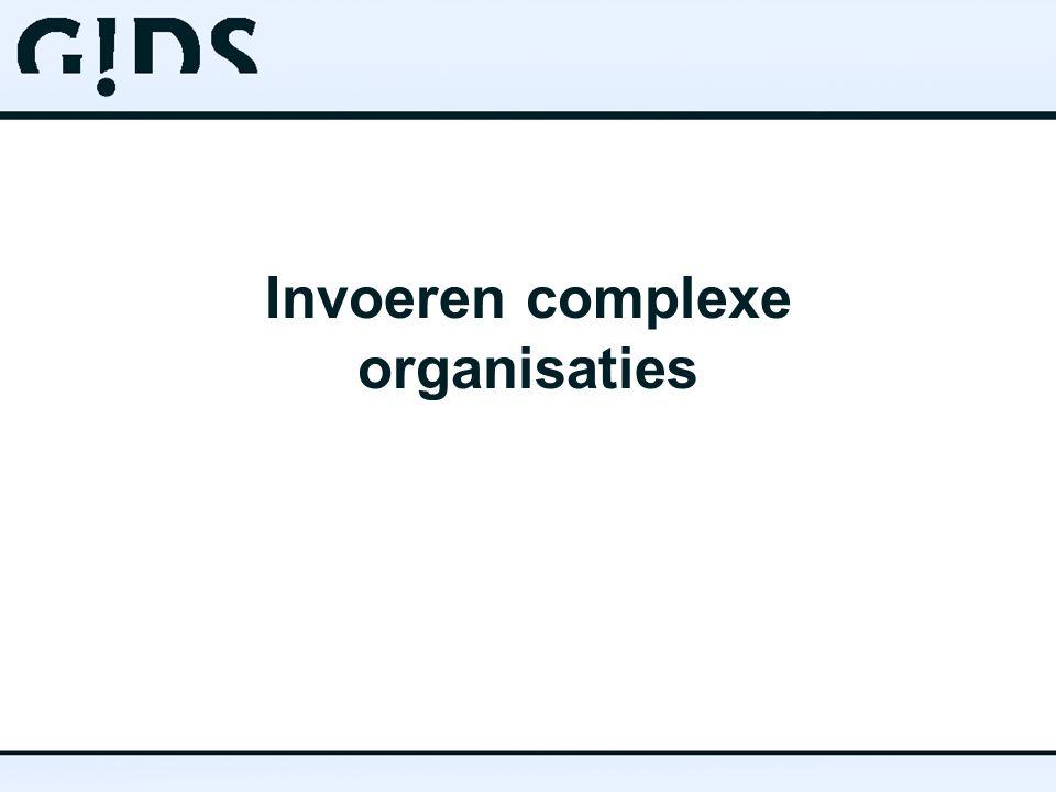 Invoeren complexe organisaties
