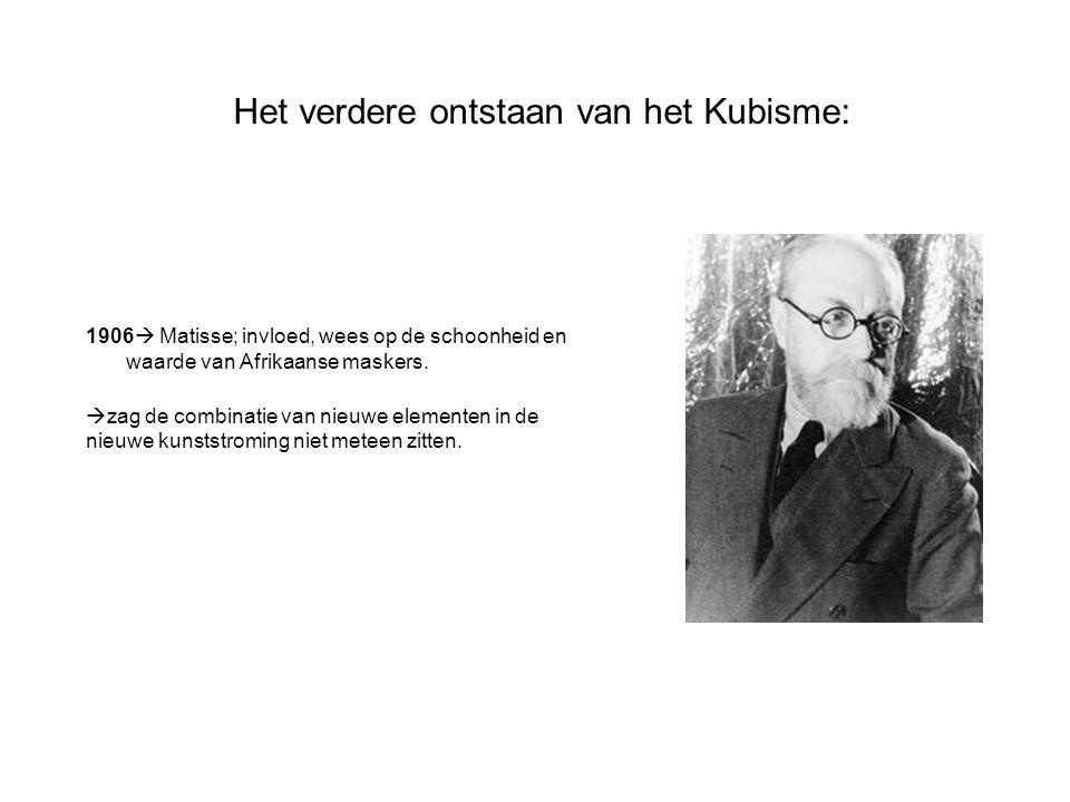 Het verdere ontstaan van het Kubisme: