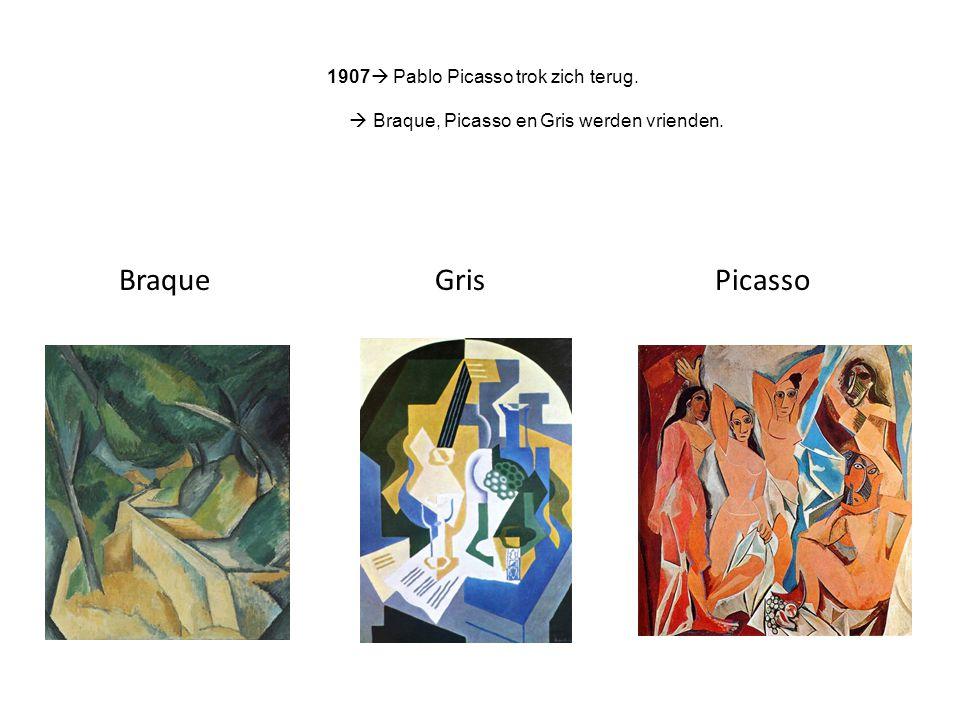 Braque Gris Picasso 1907 Pablo Picasso trok zich terug.
