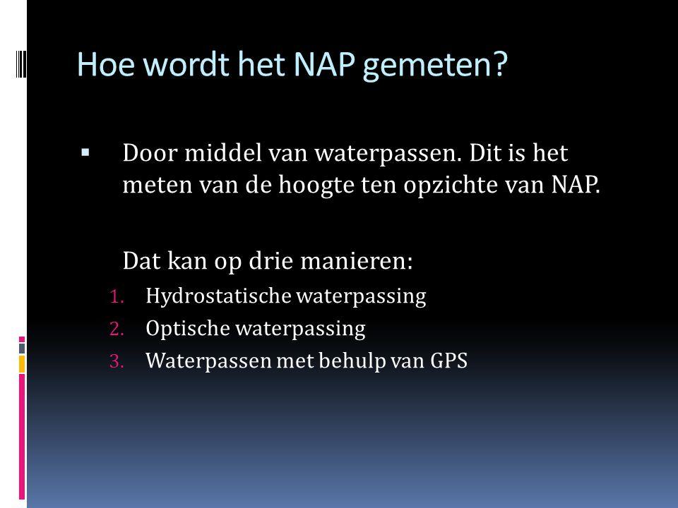 Hoe wordt het NAP gemeten