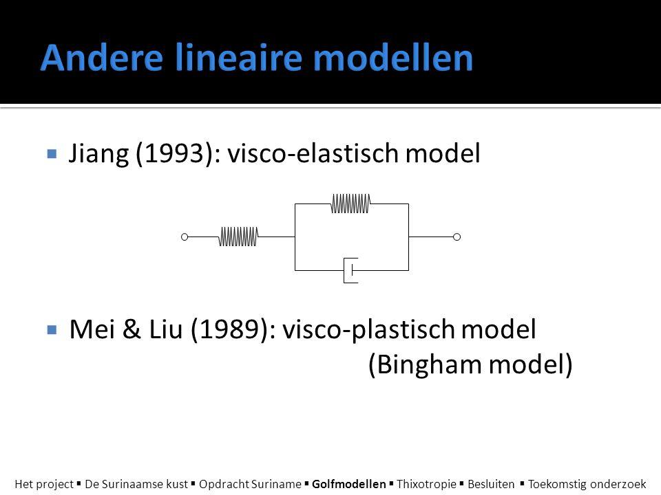 Andere lineaire modellen