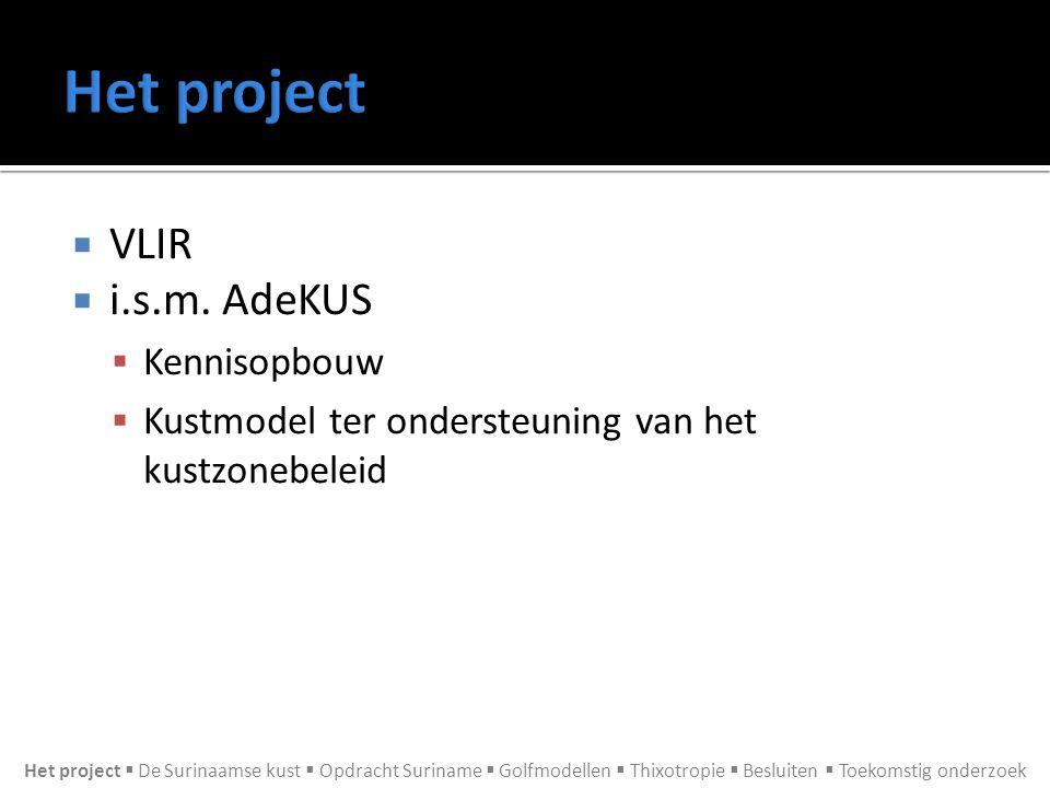 Het project VLIR i.s.m. AdeKUS Kennisopbouw
