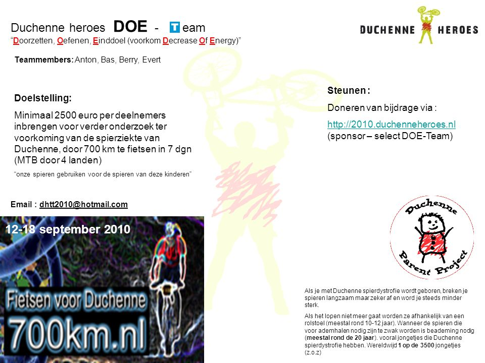 Duchenne heroes DOE - eam