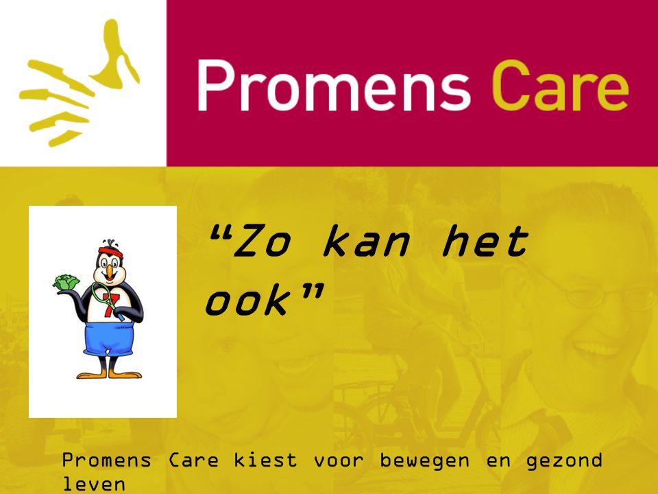 Promens Care kiest voor bewegen en gezond leven