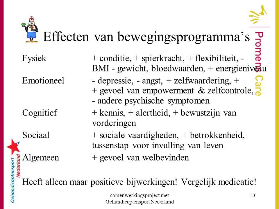Effecten van bewegingsprogramma's