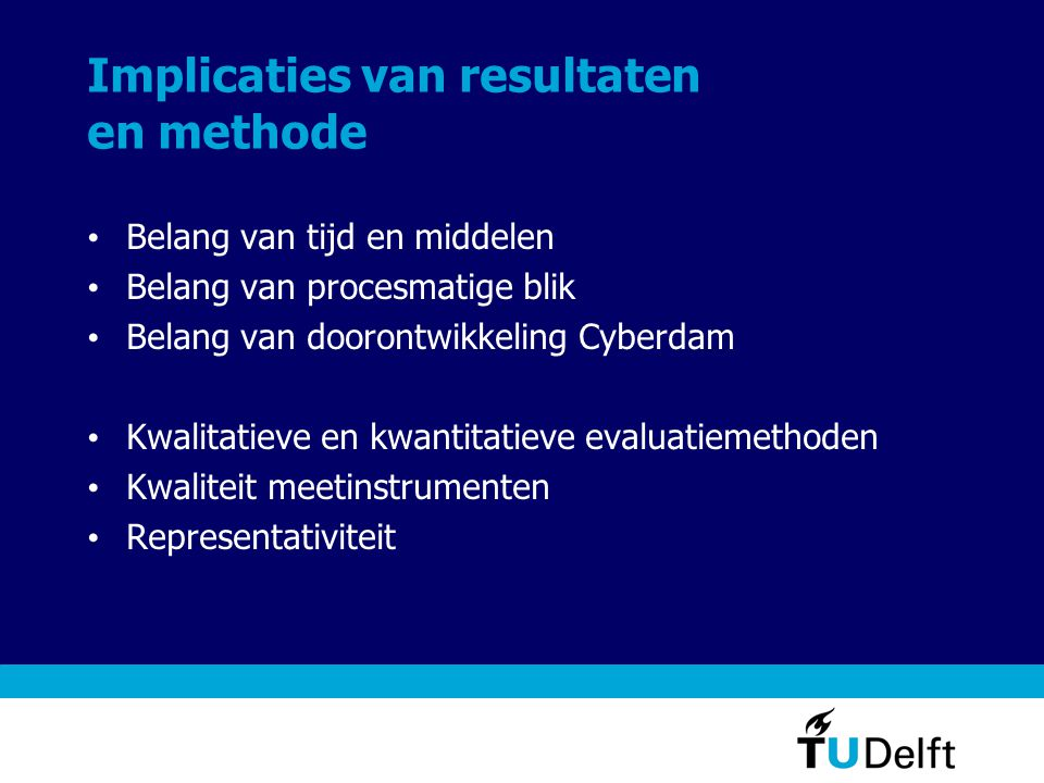 Implicaties van resultaten en methode