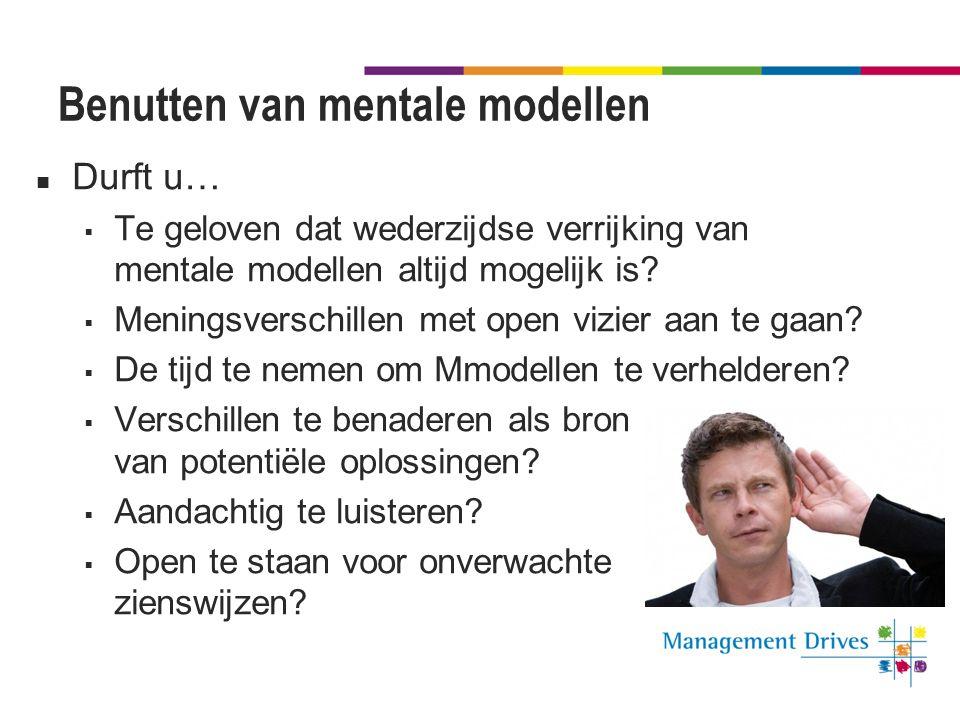 Benutten van mentale modellen