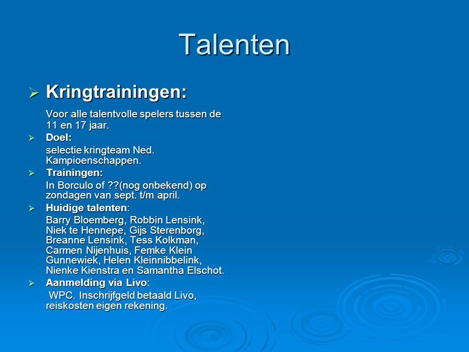 Talenten Kringtrainingen: