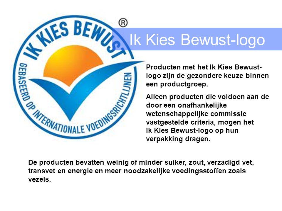 Ik Kies Bewust-logo Producten met het Ik Kies Bewust-logo zijn de gezondere keuze binnen een productgroep.