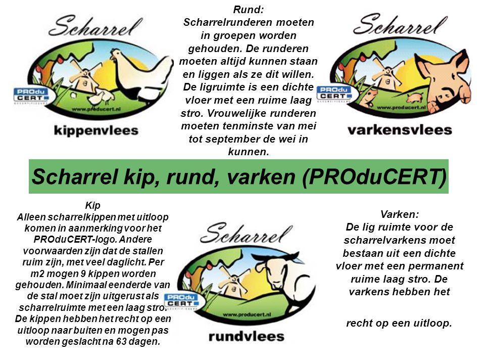 Scharrel kip, rund, varken (PROduCERT)