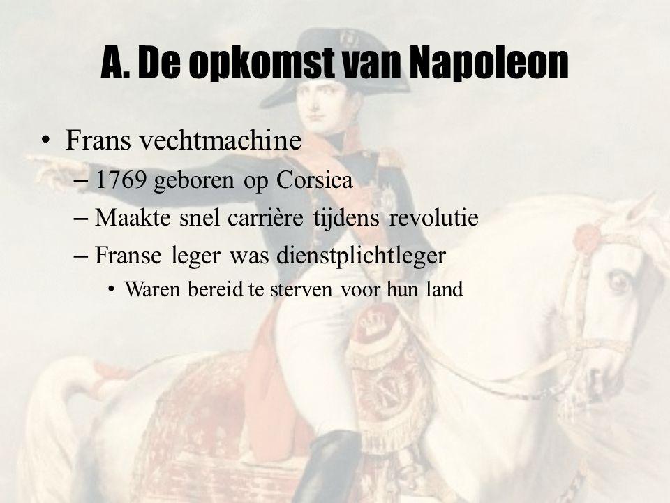 A. De opkomst van Napoleon