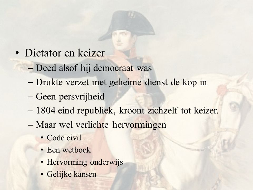 Dictator en keizer Deed alsof hij democraat was
