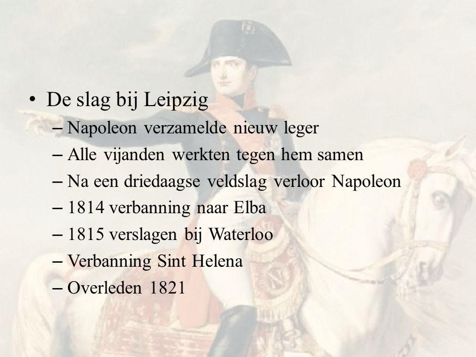 De slag bij Leipzig Napoleon verzamelde nieuw leger