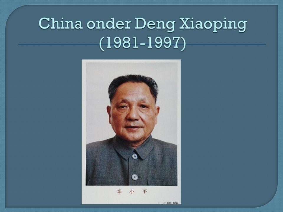 China onder Deng Xiaoping (1981-1997)
