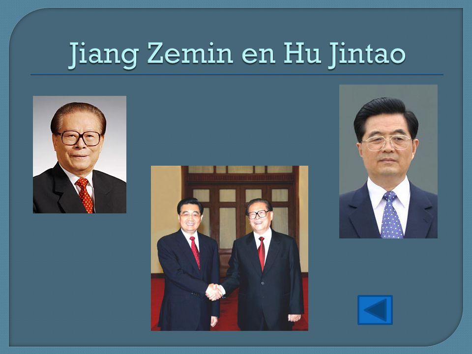 Jiang Zemin en Hu Jintao