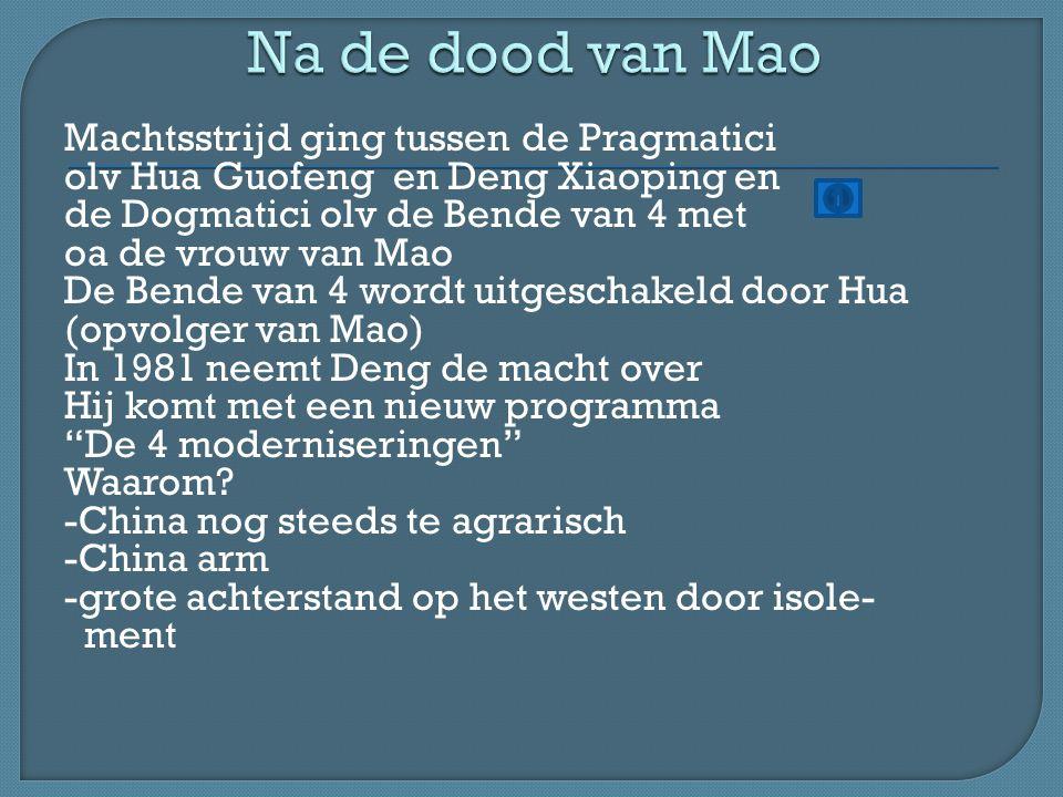 Na de dood van Mao