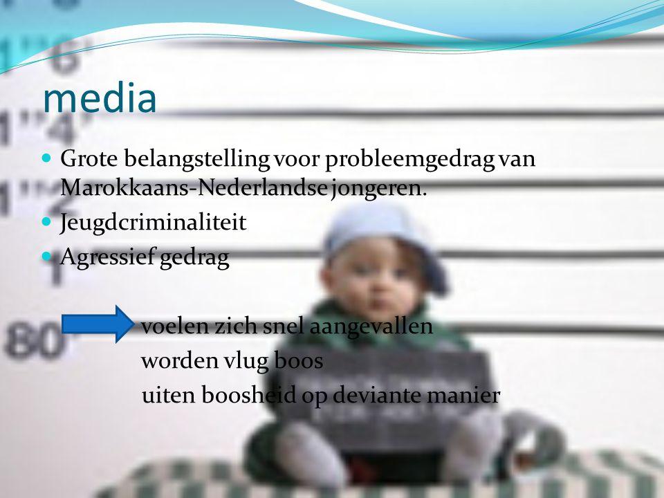 media Grote belangstelling voor probleemgedrag van Marokkaans-Nederlandse jongeren. Jeugdcriminaliteit.