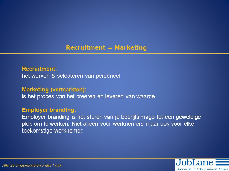 Recruitment = Marketing
