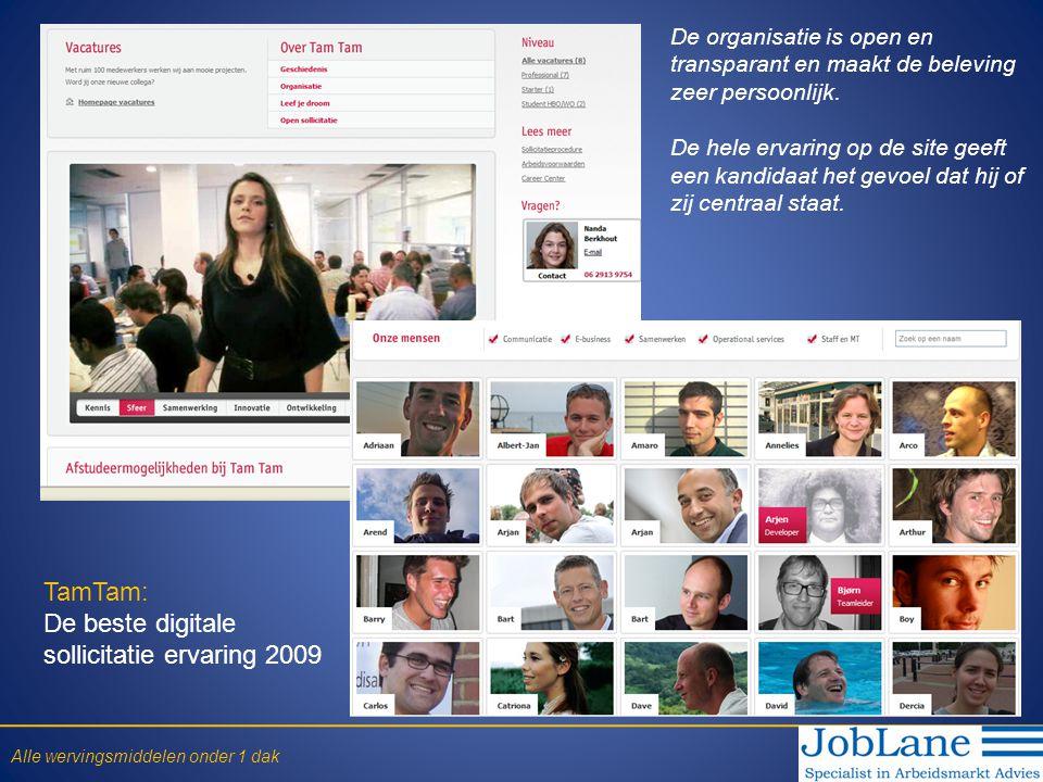 TamTam: De beste digitale sollicitatie ervaring 2009