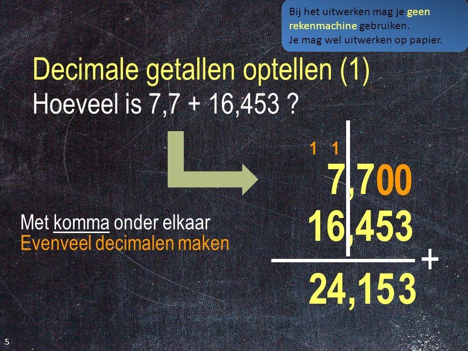 Decimale getallen optellen (1)