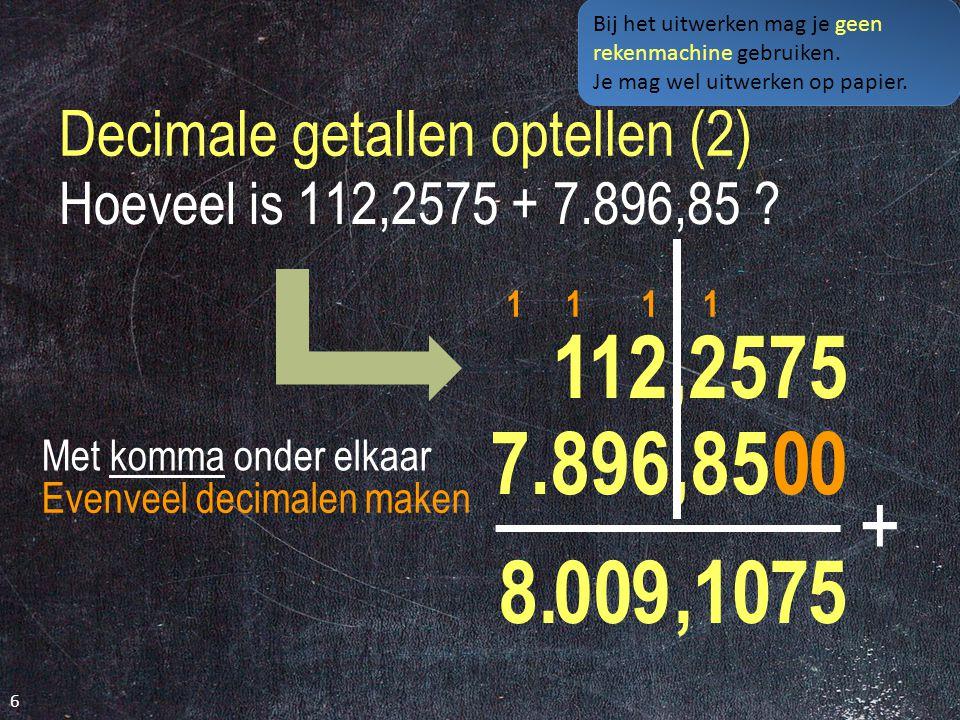 Decimale getallen optellen (2)