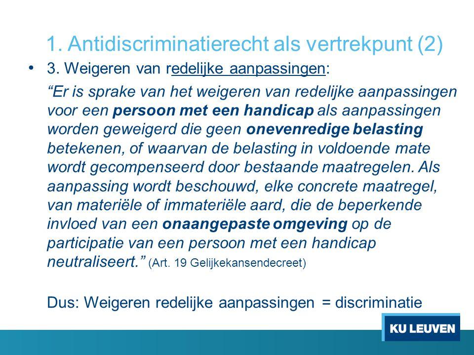 1. Antidiscriminatierecht als vertrekpunt (2)