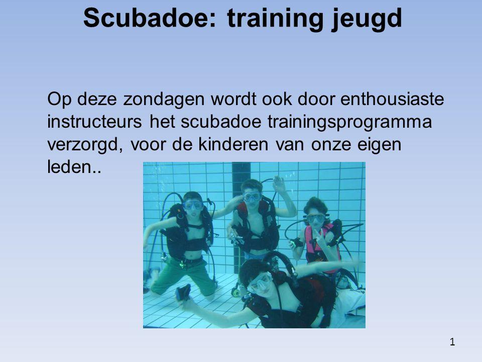 Scubadoe: training jeugd