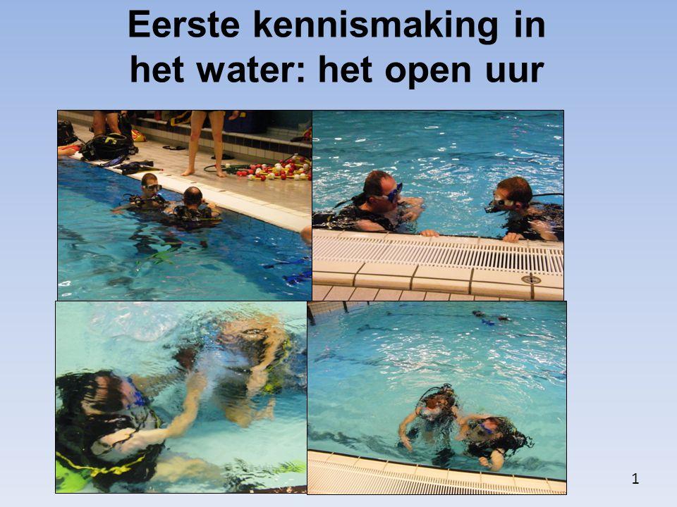 Eerste kennismaking in het water: het open uur