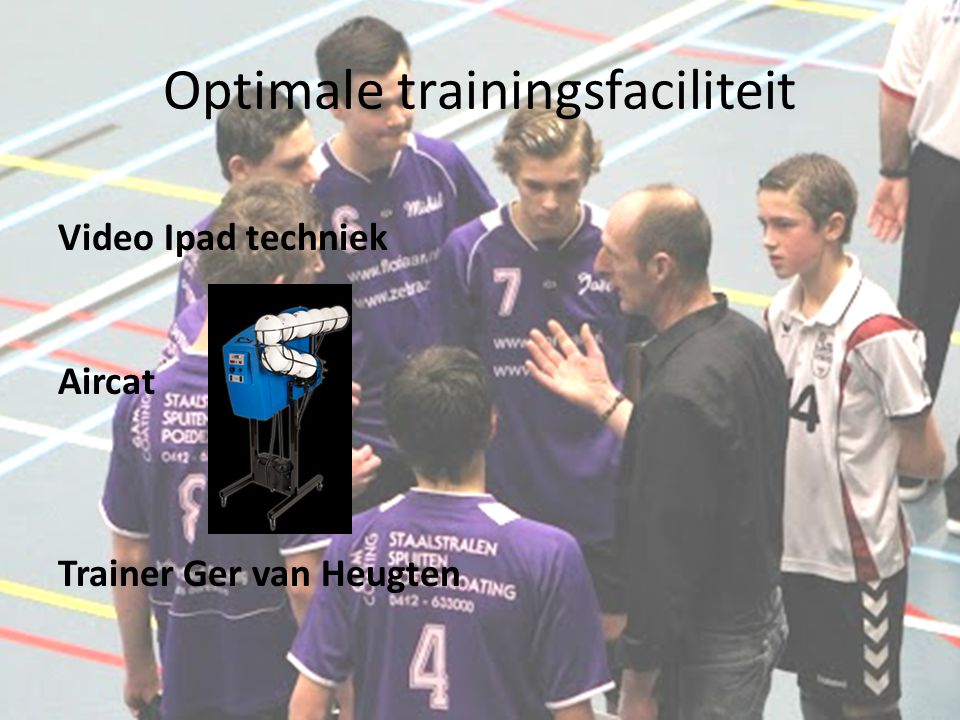 Optimale trainingsfaciliteit