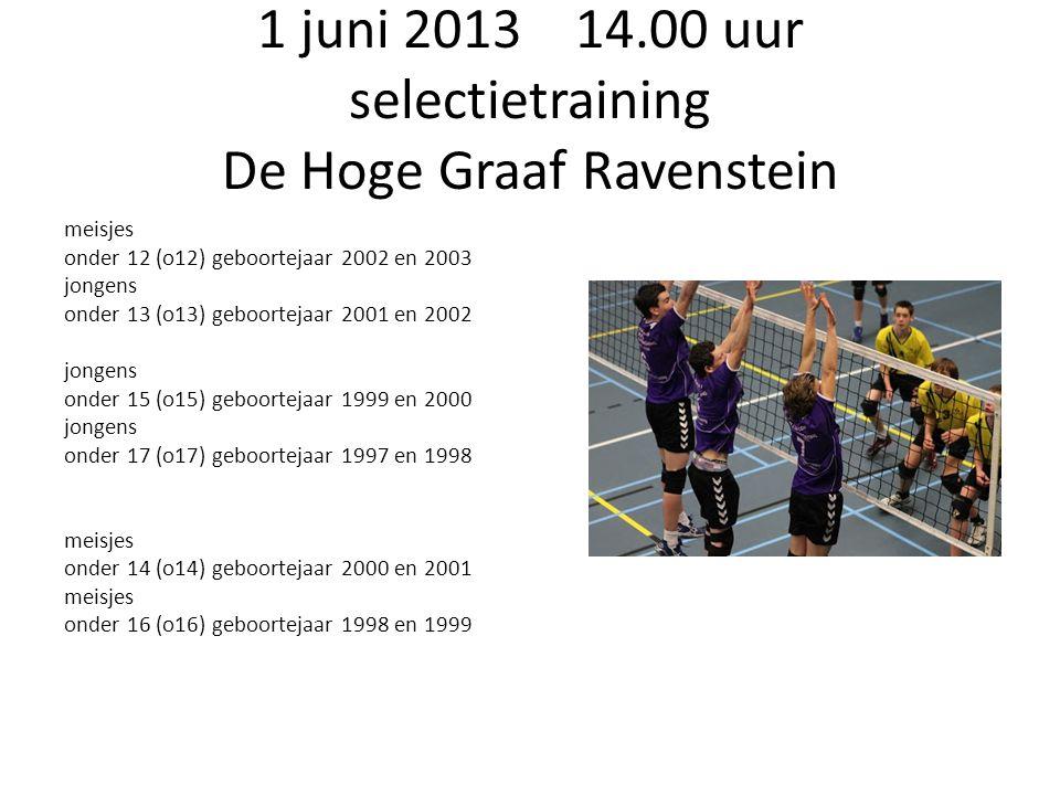 1 juni 2013 14.00 uur selectietraining De Hoge Graaf Ravenstein